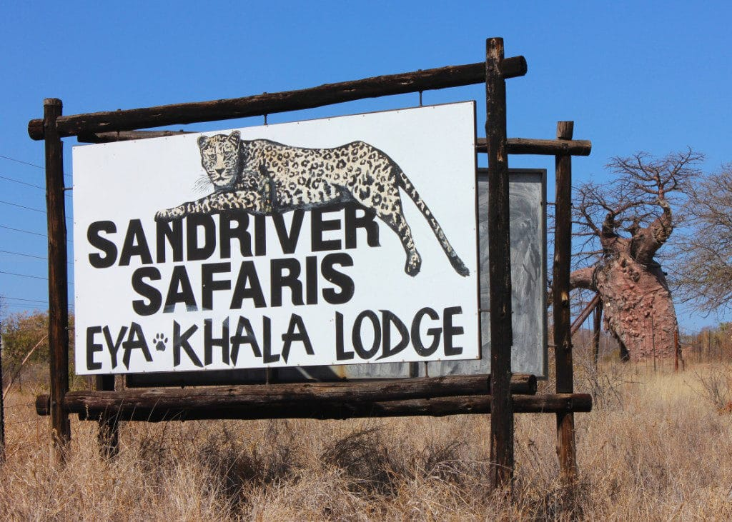 Sandriver Safari Sign